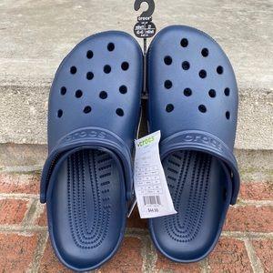 NWT Navy Blue Crocs